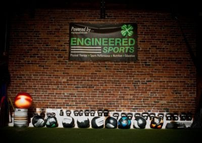 Engineered sports wall